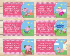 Printable Peppa Pig Birthday Goody Bag Tags by ApothecaryTables