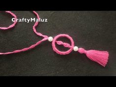 CROCHET TUTORIAL | Collar o Colgante tejido paso a paso - YouTube Learn To Crochet, Knit Crochet, Diy And Crafts, Handmade Jewelry, Knitting, Accessories, Bracelets, Crochet Necklace, Strands
