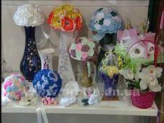 Букет из белых лент Flower Boquet, Flowers, Royal Icing Flowers, Flower, Florals, Floral, Blossoms