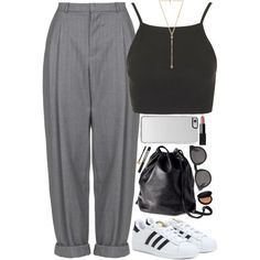 pants by jessica69b on Polyvore featuring Topshop, Boutique, adidas, H&M, Ettika, Monki, Le Métier de Beauté, NARS Cosmetics, Revolution and Yves Saint Laurent