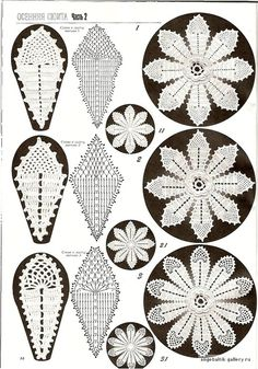 irish crochet motif - Lots of crochet flower motif patterns