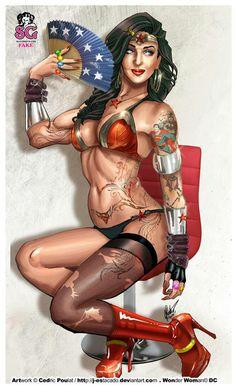 Lifting weights Wonder Woman