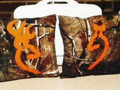 His and hers browning pillows made with real tree camo!