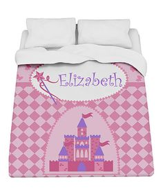 Look what I found on #zulily! Princess Castle Personalized Duvet #zulilyfinds