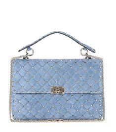 VALENTINO Valentino Garavani Rockstud Spike Suede Shoulder Bag. #valentino #bags #shoulder bags #hand bags #suede #lining #