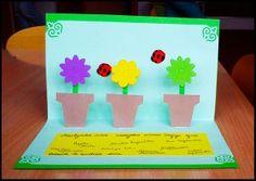 kartka z doniczkami/ flower card