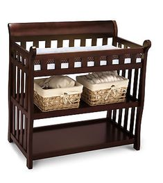 Delta Children Eclipse Changing Table Functional Baby's Nursery Black Cherry New