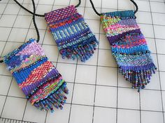 Ravelry: dinahrose's Tapestry pendants with eccentric weft