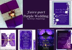 Wedding Stuff, Wedding Ideas, Wedding Event Planner, Pearl Flower, Purple Wedding, Rapunzel, Marie, Wedding Invitations, Shit Happens