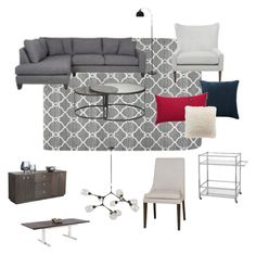 Classic Contemporary by jennifer-266 on Polyvore featuring polyvore, interior, interiors, interior design, home, home decor, interior decorating and contemporary