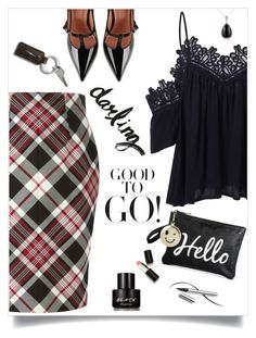 """""""Good to Go!"""" by juliehooper ❤ liked on Polyvore featuring Alexander McQueen, Sigma, Chantecaille, RED Valentino, Kenneth Cole and Kobelli"""