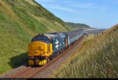 37403 Direct Rail Services (DRS) Class 37 at St Bees, United Kingdom by James Stearn Electric Locomotive, Diesel Locomotive, Union Pacific Train, Blackpool England, Uk Rail, Barrow In Furness, Train Room, British Rail, Electric Train