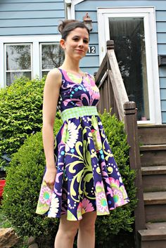 serendipity studio monique dress (with a circle skirt instead of gathered)