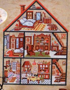 Dollhouse  chart from Zweigart's At Home with Needlework magazine Jan 2008 #7  Stitch count: 116w x 157h   (also available in a l...