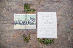 Winter Season Wedding Invitation