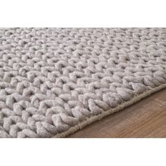 Found it at Wayfair.ca - Chunky Woolen Cable Light Grey Area Rug