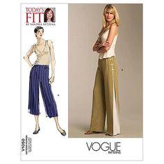 Easy Vogue Sewing Pattern by Sandra Betzina V1050 Misses' Pants … WeaverDee.com