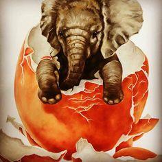 I love it adorable. .!!!   Credit :  @raisashel - . #elephant #elephants #elephantlove