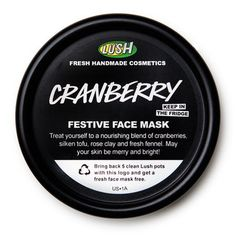 Cranberry face mask from LUSH