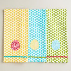 Spring Dotted Egg Kitchen Towels at Cost Plus World Market >>  #WorldMarket Easter Style Hunt Sweepstakes. Enter to win a 1K World Market gift card.