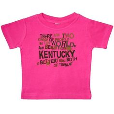 3472b9a9212c8e Inktastic Funny Kentucky Quote Gift Baby T-Shirt State Humor Two Kinds Of  People Joke