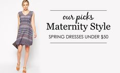 Spring Maternity Dresses Under $50 - on-trend and in-budget! Project Nursery