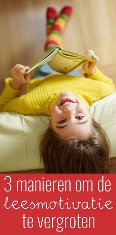 Sommige kinderen vinden het lastig om te genieten van het lezen. Je kunt op drie makkelijke manieren de leesmotivatie van deze kinderen vergroten. Dyscalculia, School Hacks, School Tips, Classroom, Teaching, Writing, Children, Spelling, Dyslexia