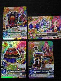 "Trading card of Japanese Animation ""AIKATSU"" Premium Musical scopion coordinate"
