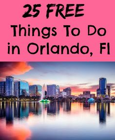 If you are visiting Orlando Florida you don't have to spend all your money at the Theme Parks. Check out these 25 free things to do in Orlando Fl. Visit Orlando, Orlando Travel, Orlando Vacation, Florida Vacation, Florida Travel, Vacation Trips, Vacation Spots, Travel Usa, Orlando 2017