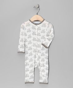 Gray Bike Bamboo Playsuit by Kicky Pants