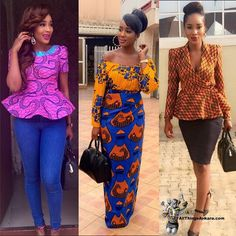 Ankara african print outfit for women