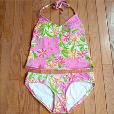 Lilly Pulitzer Tankini 4 small 2 Pink Elephant  I judt bought this from Poshmarker. Says 4 but runs small like a 2. Also tummy will show! Adorable Pink Elephant in bright jungle print. Super fun for summer! ⛱ Lilly Pulitzer Swim