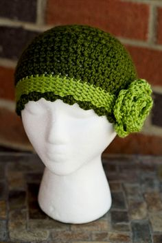 Vintage Look Teen/Women's Crochet Hat with by JoyfulMamaDesigns, $25.00