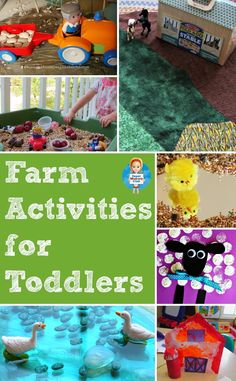 Farm related activities and crafts make a great theme for learning at any time of the year. You can have planting themed activities in the spring, and harvesting themes in the Autumn (Fall), but since toddlers seem to love farm animals and the noises they make I think this is one time when the season really doesn't matter.
