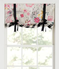 Primrose Lined Tie-Up Valance with Buffalo Check Trim $79.95 - $99.95