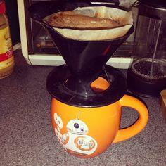 Refueling BB8 for the day's adventures! #coffee #yum #bb8 #starwars #mug