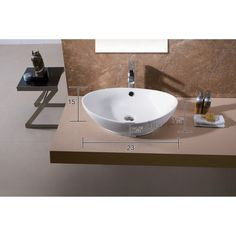 You'll love the Modern Vitreous Oval Vessel Bathroom Sink with Overflow at Wayfair - Great Deals on all Home Improvement  products with Free Shipping on most stuff, even the big stuff.