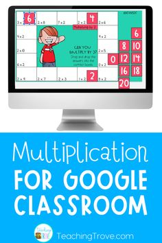 Looking for distance learning activities for your elementary students? Your third grade kiddos will love learning their multiplication facts with these google slides activities. Before playing they read the multiplication strategy and then have three ways to practice applying it. This paperless activity is perfect for building fact fluency and can be used during distance learning in your google classroom.