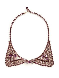 House of Lavande Weiss Purple Crystal Bow Tie Necklace