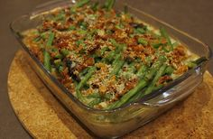American Style Green Bean Casserole for Thanksgiving