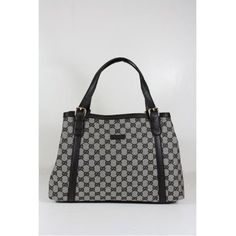 Gucci Handbags Black and White Canvas and Leather 282531