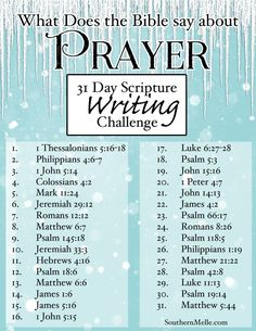 Prayer - what the Bible says. Bible verses and bible journaling ideas. Writing Plan, Writing Challenge, Prayer Scriptures, Bible Prayers, Scripture About Prayer, Beautiful Words, Scripture Study, Scripture Reading, Bible Study Plans