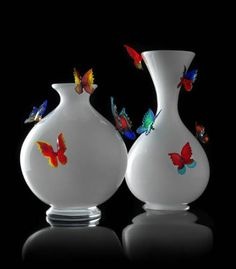 vase:  Murano Venice  glass,  FARFALLE by Stefano Poletti