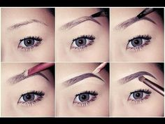 another perfect eyebrow tutorial. 1) Fill in brows with taupe eyeshadow. 2) Outline brows with brown gel liner. 3) fill in brows with the exception of the inner corners. 4) Blend using a clean mascara wand. 5) Use concealer around the brows in a lighter shade than your skin to define and highlight.