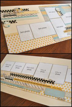 scrapbook generation: Sketch Day One for March! - scrapbook generation: Sketch Day One for March! Scrapbook Layout Sketches, Card Sketches, Scrapbooking Layouts, Scrapbook Paper Crafts, Scrapbook Albums, Scrapbook Cards, Scrapbook Generation, Picture Layouts, 6 Photos
