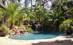 landscaped pool - lagoon effect