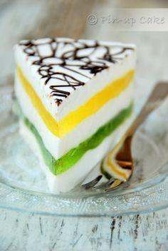 Marshamallow and Jello Torte Jello Recipes, Cake Recipes, Australia Day, Sweets Cake, Polish Recipes, Sushi, Food And Drink, Cooking Recipes, Pudding