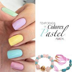 Para esta primavera los colores pastel marcan la tendencia en uñas. Compleméntalo con #JoyasExclusivas que hagan juego con tu look