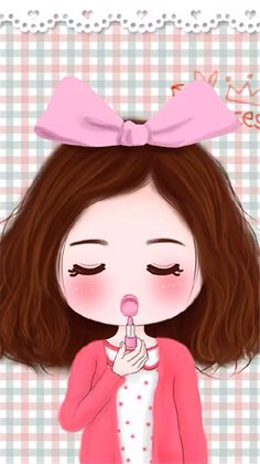 Not stop beauty 💄 Simple Cartoon, Cute Cartoon, Creative Pictures, Cute Pictures, Pinky Girls, Easy Drawings For Beginners, Easy Cartoon Drawings, Girly M, Cartoon Photo