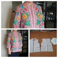 Shanghai collar blouse pattern with front button. Order by click our link/line : modelliste - modellistepattern Sewing Blouses, Sewing Shirts, Sewing Pants, Sewing Baby Clothes, Batik, Pants For Women, Clothes For Women, Dress Sewing Patterns, Top Pattern